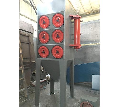斜插式脉冲除尘器安装